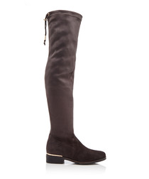 Taliah grey suede over the knee boots