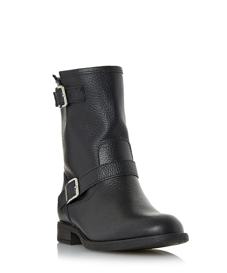 Ralphey black leather buckle calf boots Sale - dune