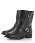Ralphey black leather buckle calf boots Sale - dune Sale