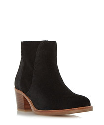 Pearson black suede ankle boots