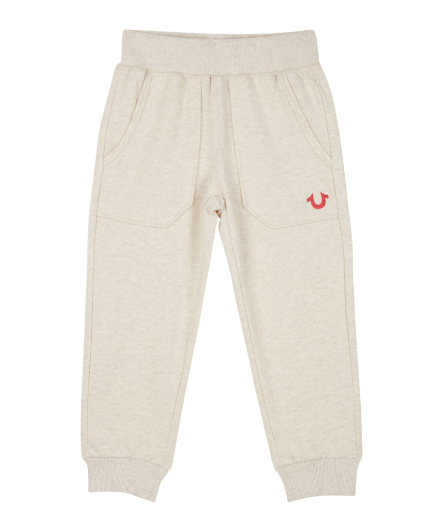 Girls' 7-14yrs oatmeal cotton joggers Sale - true religion