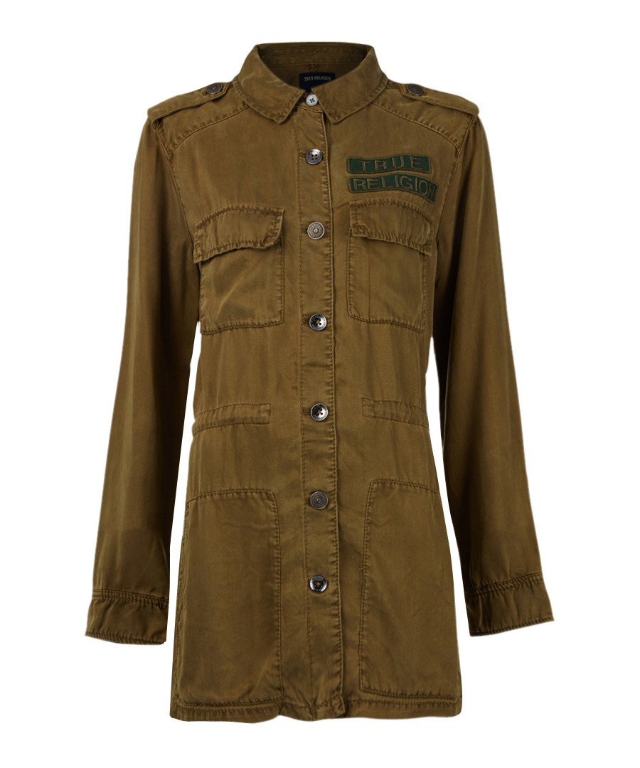 LS burnt olive military jacket Sale - true religion