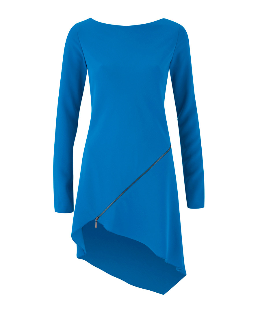 Discount Cobalt asymmetric hem mini dress | SECRETSALES
