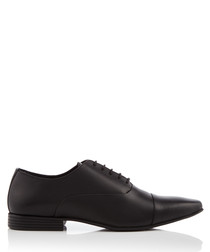 Kenwall black leather Oxford shoes
