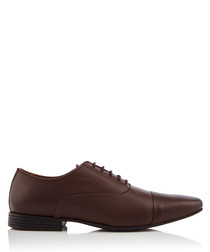 Kenwall brown leather Oxford shoes