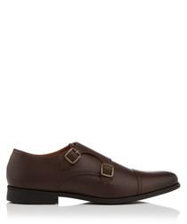 Manning brown monkstrap shoes