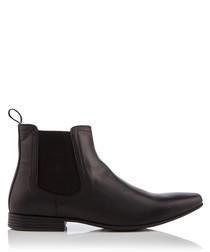 Kempston black leather ankle boots
