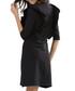 Black ruffle sleeve detail mini dress Sale - zibi london Sale