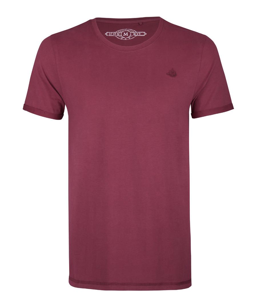 Bordeaux pure cotton T-shirt Sale - DreiMaster