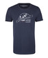 Men's marine blue cotton logo T-shirt Sale - DreiMaster Sale