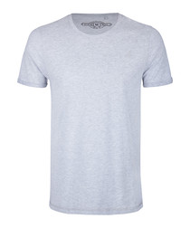 Men's grey cotton blend T-shirt