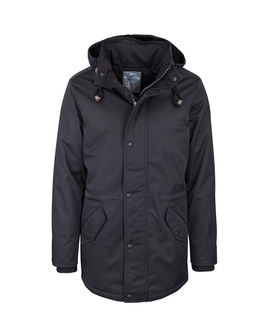Black hooded side pocket jacket Sale - DreiMaster