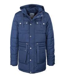 Men's marine blue padded long coat