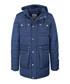 Men's marine blue padded long coat Sale - DreiMaster Sale