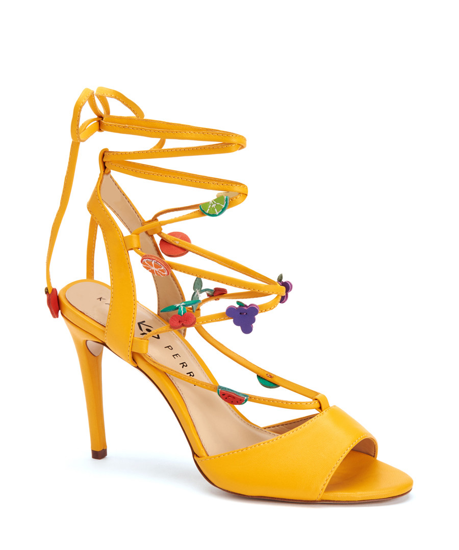 318d567c30eb The Carmen yellow leather fruity heels Sale - Katy Perry