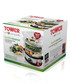 Stainless steel 3-tier steamer 9L Sale - tower Sale