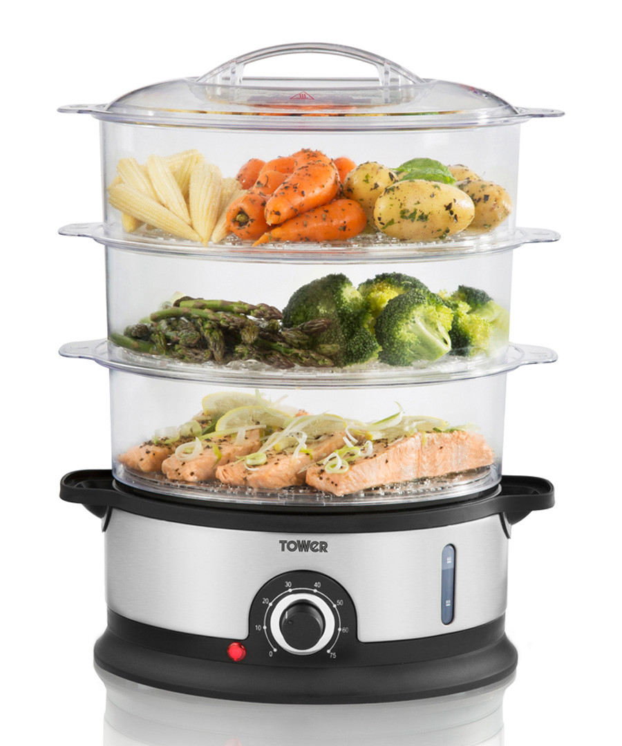 Stainless steel 3-tier steamer 9L Sale - tower