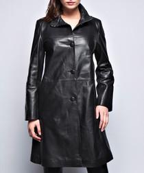 Women's Fabiola black leather coat