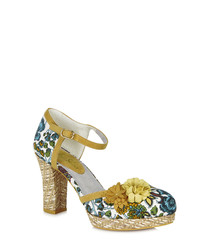 Flo mango floral detail heels