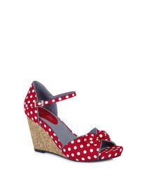 Molly red polka dot wedges