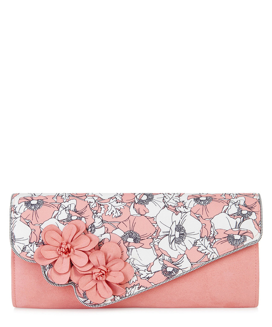 Rio peach floral printed clutch Sale - ruby shoo