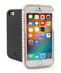 Black illuminated selfie iPhone 6/6S case