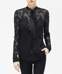 Black cut-out detail blouse