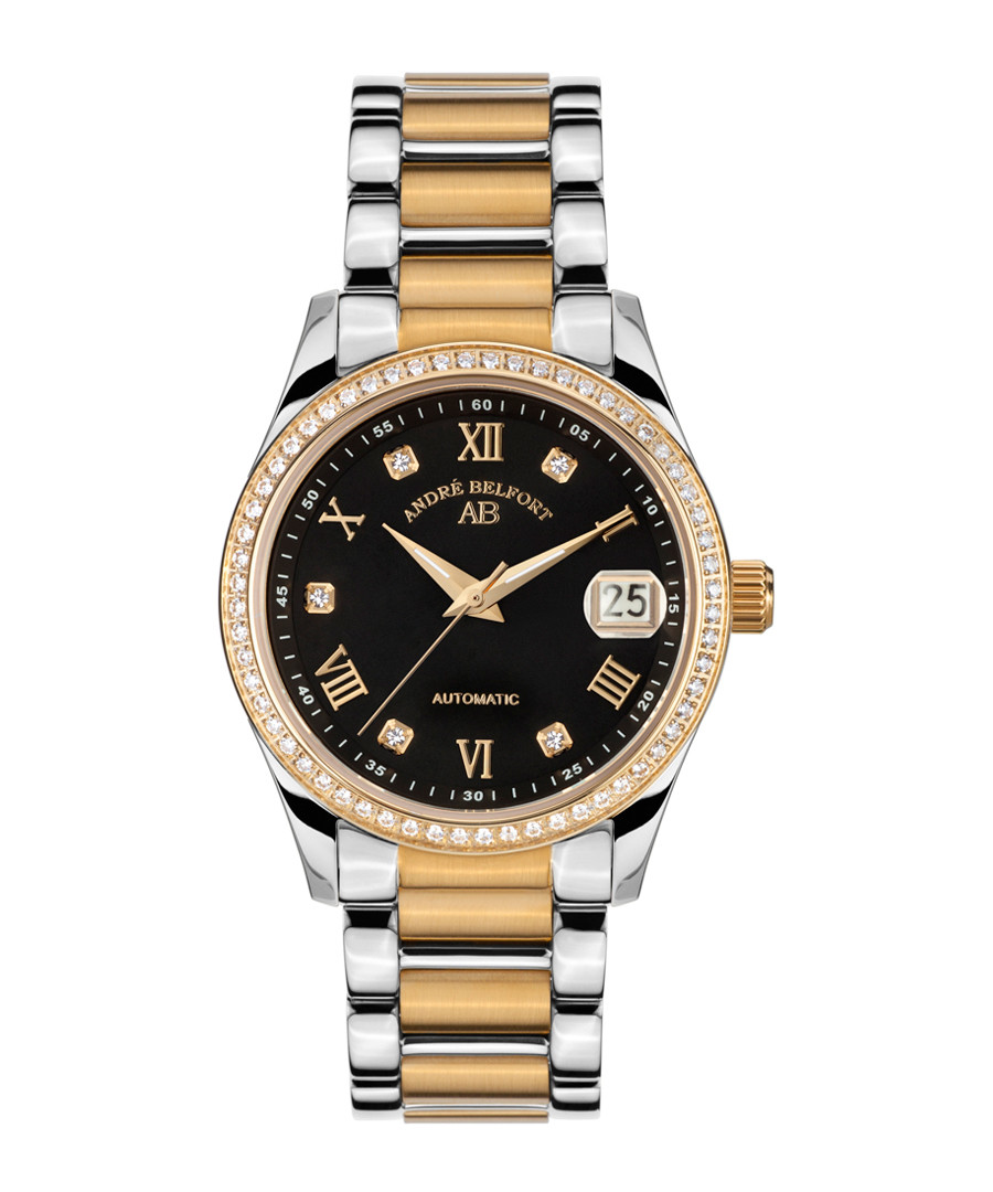 Silver & gold stainless steel watch Sale - andre belfort