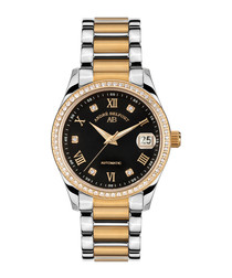 Silver & gold stainless steel watch