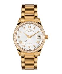 Déméter gold-tone stainless steel watch