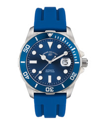 Sous Les Mers blue silicone watch