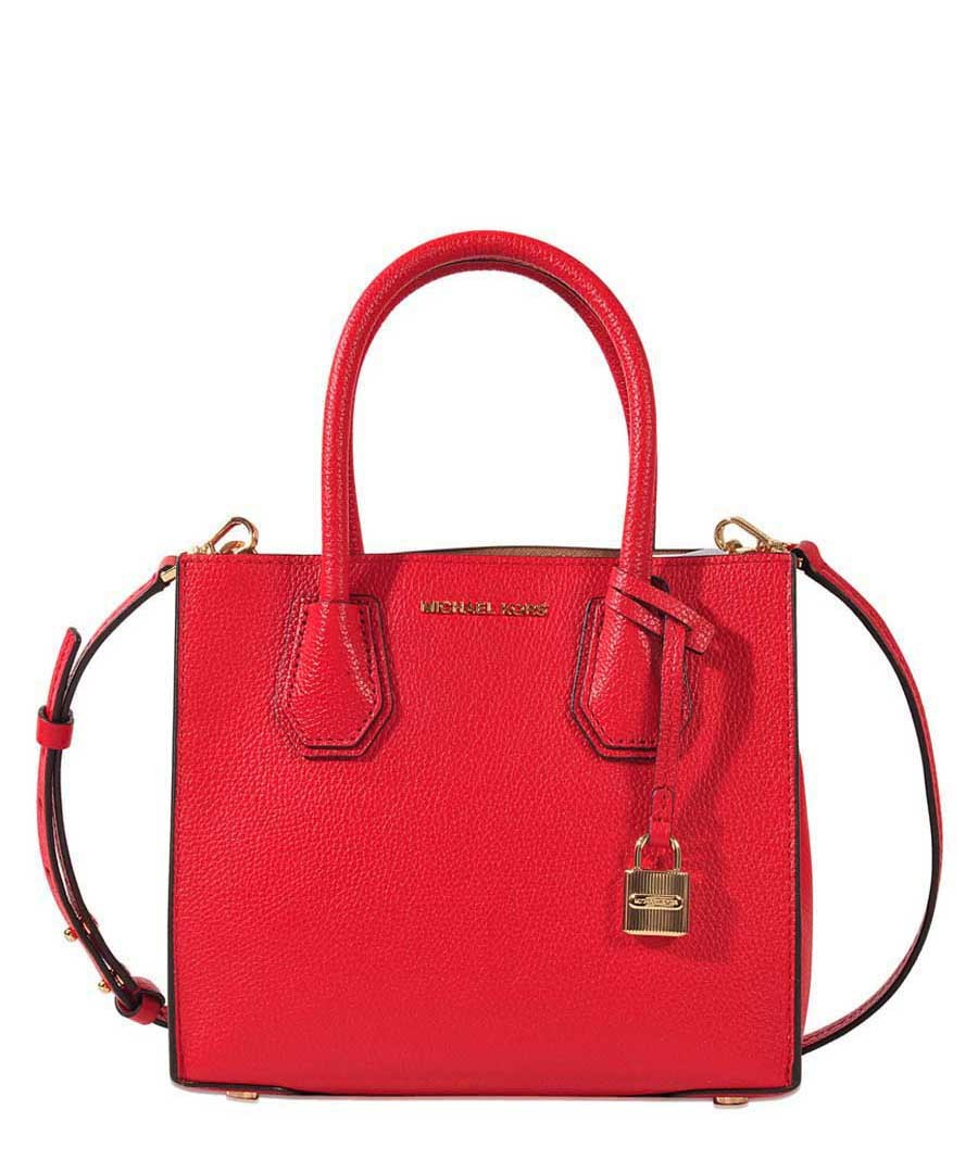 Mercer Small red leather grab bag  Sale - michael michael kors