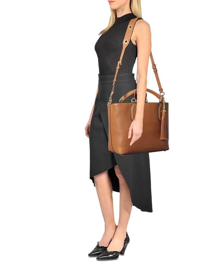 a66c82bbe194bb ... Brooklyn Large brown leather grab bag Sale - Michael Michael Kors ...