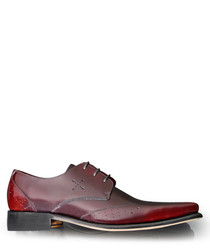 Hemmings Blow Up damson leather shoes