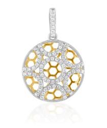 74 White Swarovski Crystal Zirconia and 925 Silver Pendant