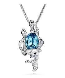 Blue Swarovski Elements Crystal Fish Pendant