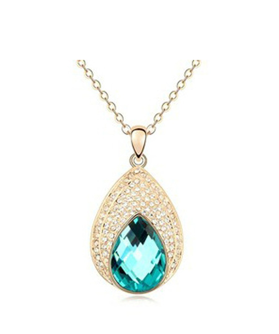 Pendants made with Crystal and Rhinestone Swarovski Elements Turquoise Sale - Blue Pearls
