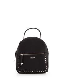 Sooty Mini black & silver-tone backpack