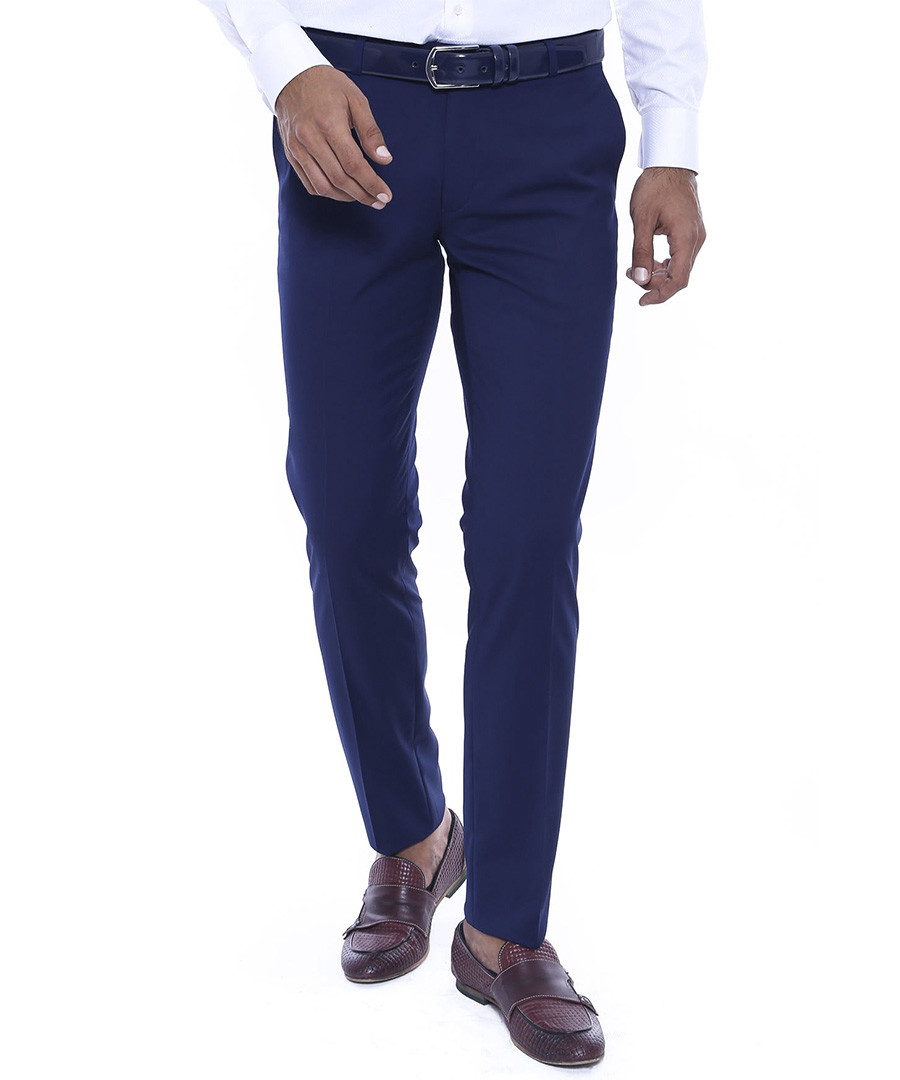 Navy Slim fit trousers Sale - WSS WESSI MENSWEAR