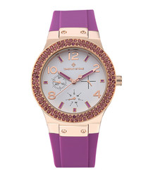 Facon Sport two-tone crystal watch