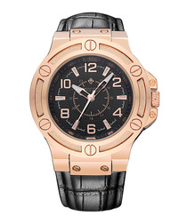 Manis rose gold-tone leather watch