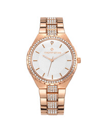 Gala rose gold-tone Swarovski watch