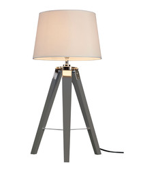 Bailey grey chrome tripod table lamp