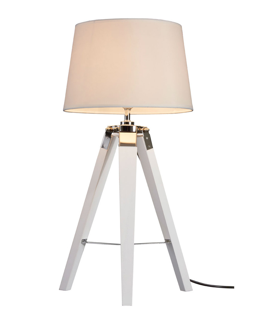 Bailey white chrome tripod table lamp Sale - premier