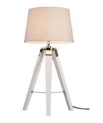 Bailey white chrome tripod table lamp