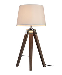 Bailey brown chrome tripod table lamp