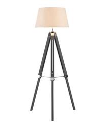 Bailey grey chrome tripod floor lamp