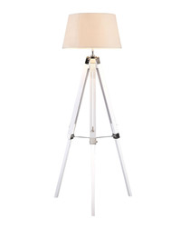 Bailey white chrome tripod floor lamp