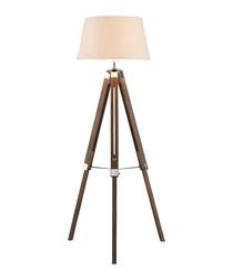 Bailey brown chrome tripod floor lamp