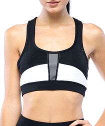 Double Up black & white sports bra